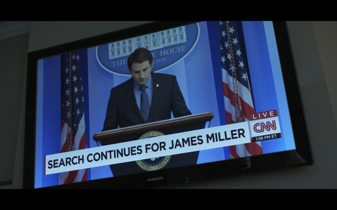 Samsung TV and CNN Live TV Channel - House Of Cards TV Show Product Placement