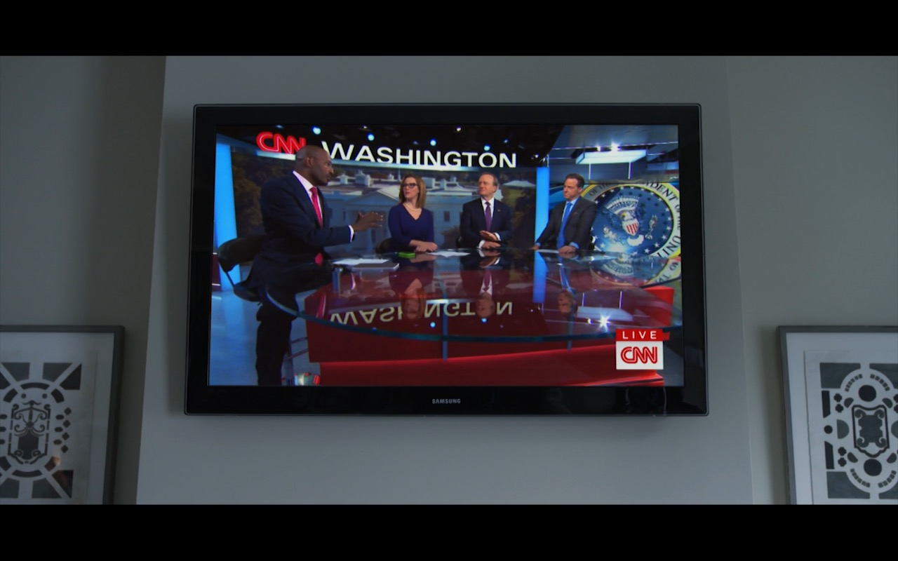 Samsung TV And CNN Live - House Of Cards TV Show Product Placement