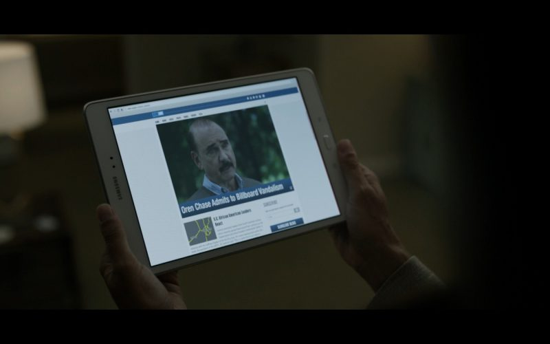 Samsung Tablet - House Of Cards TV Show Product Placement