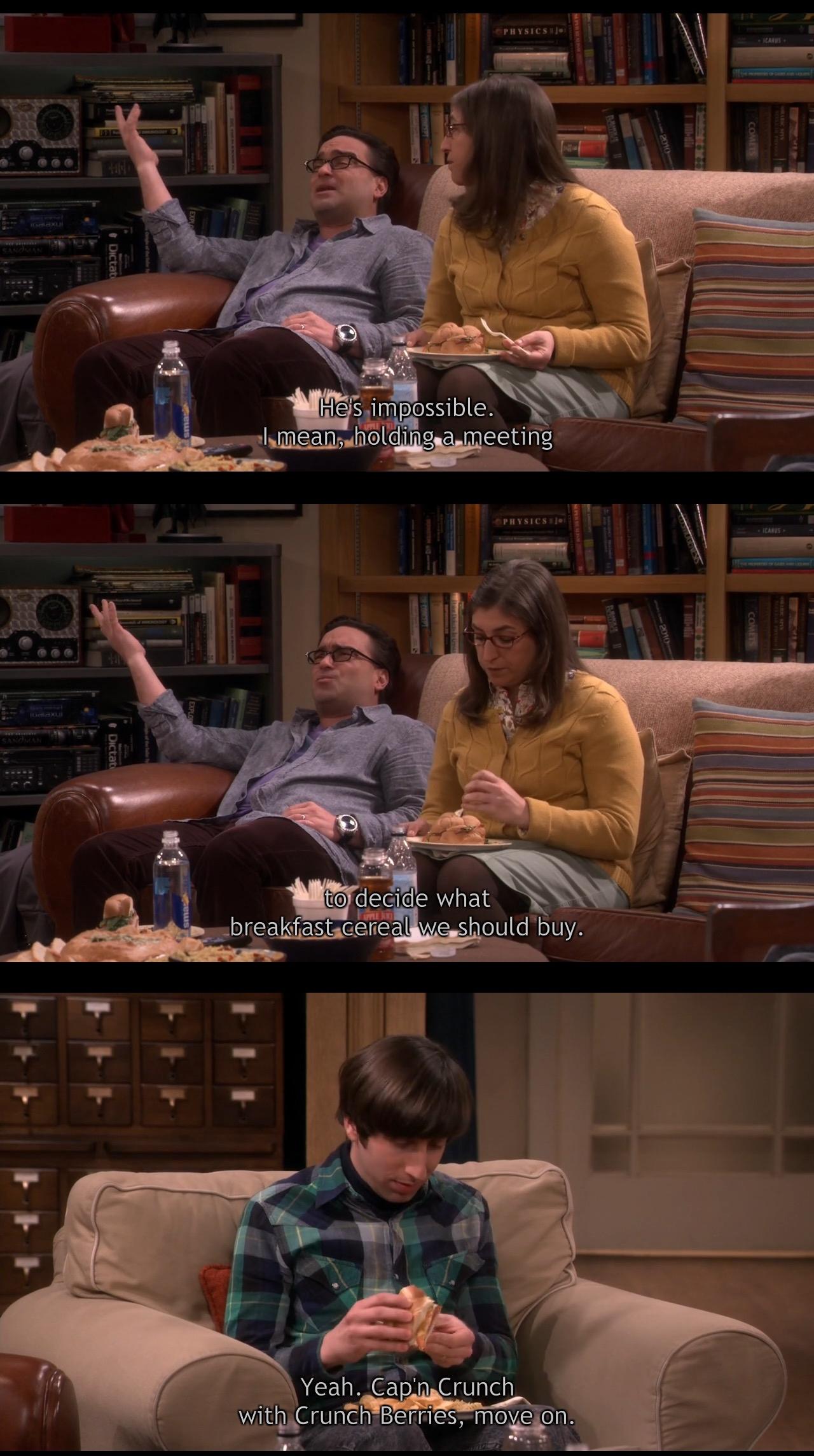 Cap'N Crunch's Crunch Berries - The Big Bang Theory TV Show