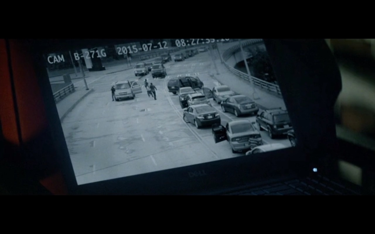 Dell notebook product placement in Triple 9 (2016) movie