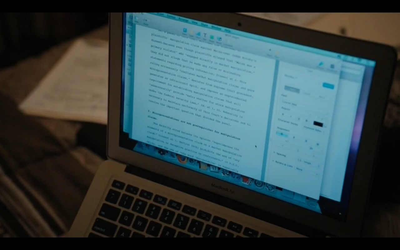 MacBook Air – Billions TV Show Product Placement