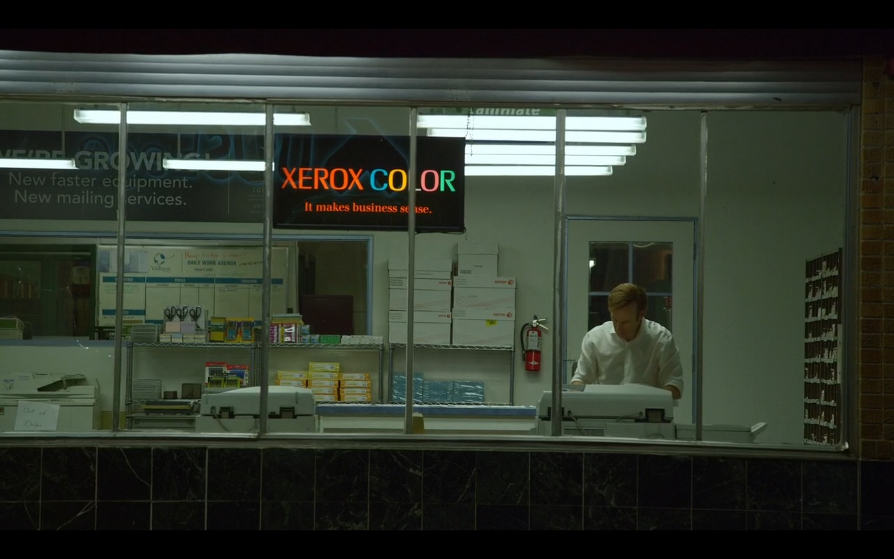 Xerox Color - Better Call Saul TV Show Product Placement