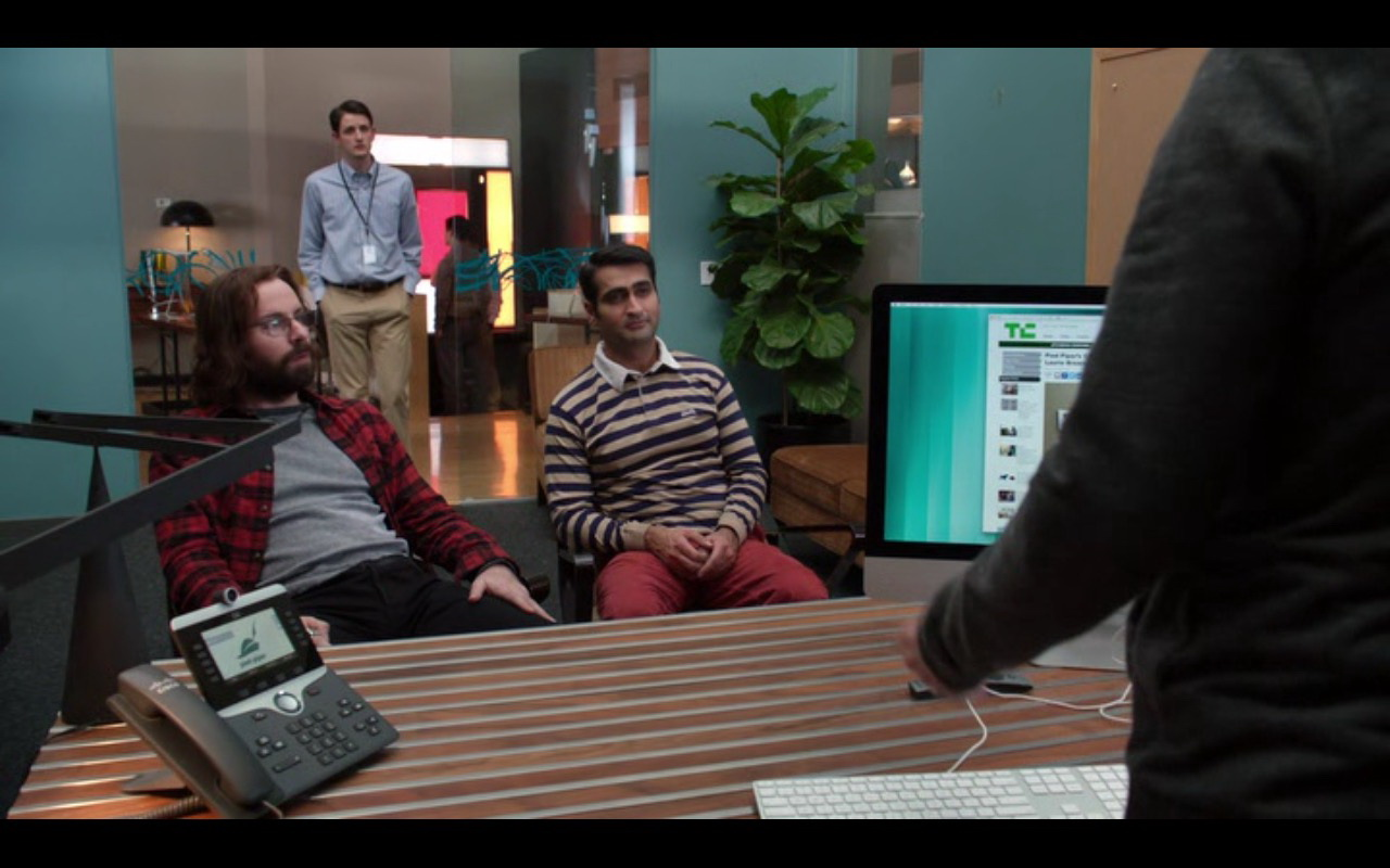 Cisco IP Video Phone And Apple iMac - Silicon Valley TV Show Product Placement