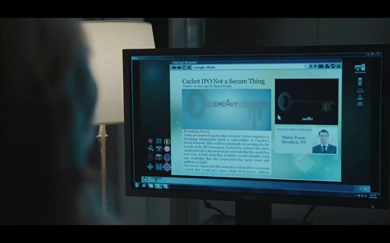 Acer Monitor - Equity (2016) Movie Product Placement