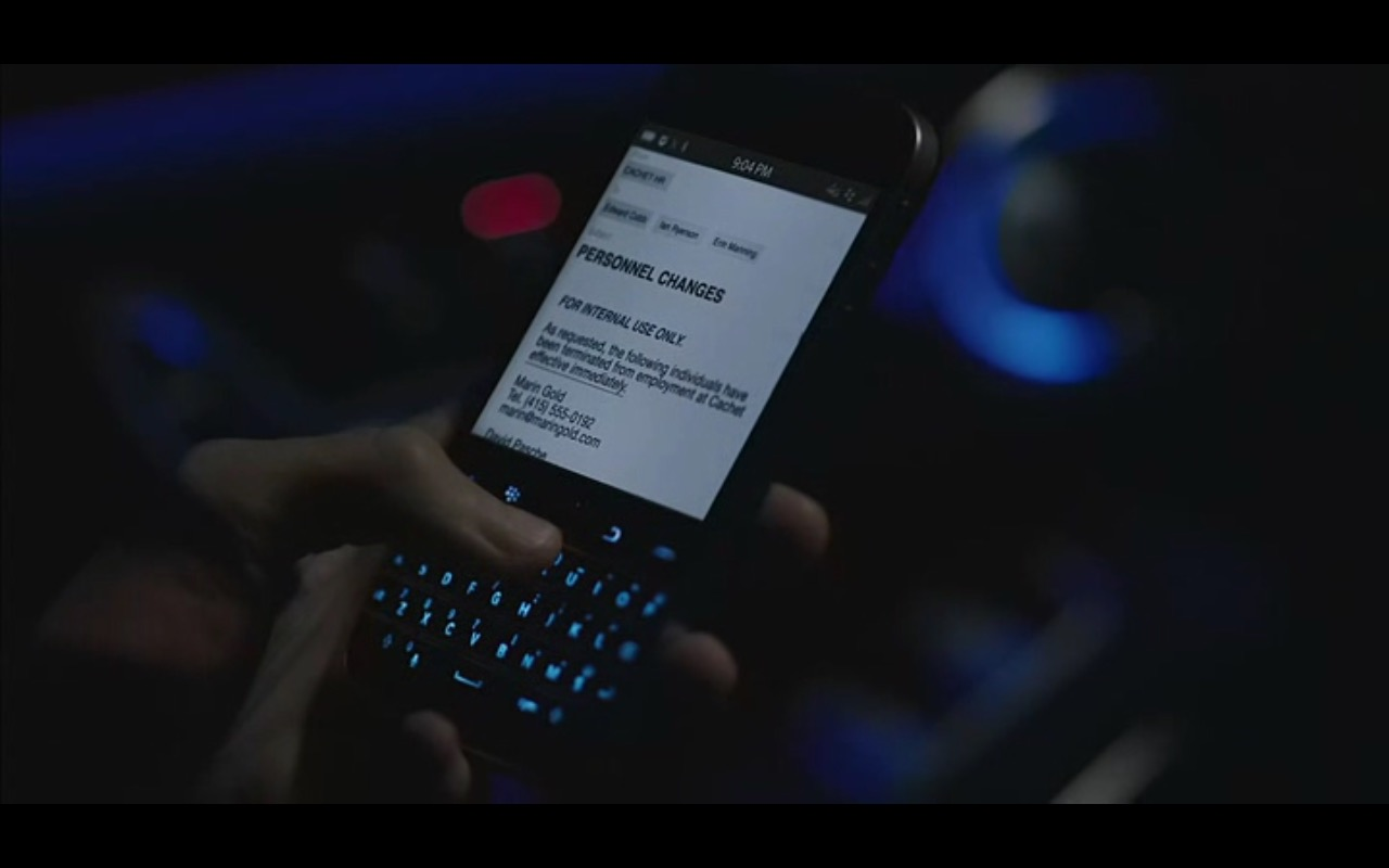Blackberry QWERTY Smartphones - Equity (2016) Movie Product Placement