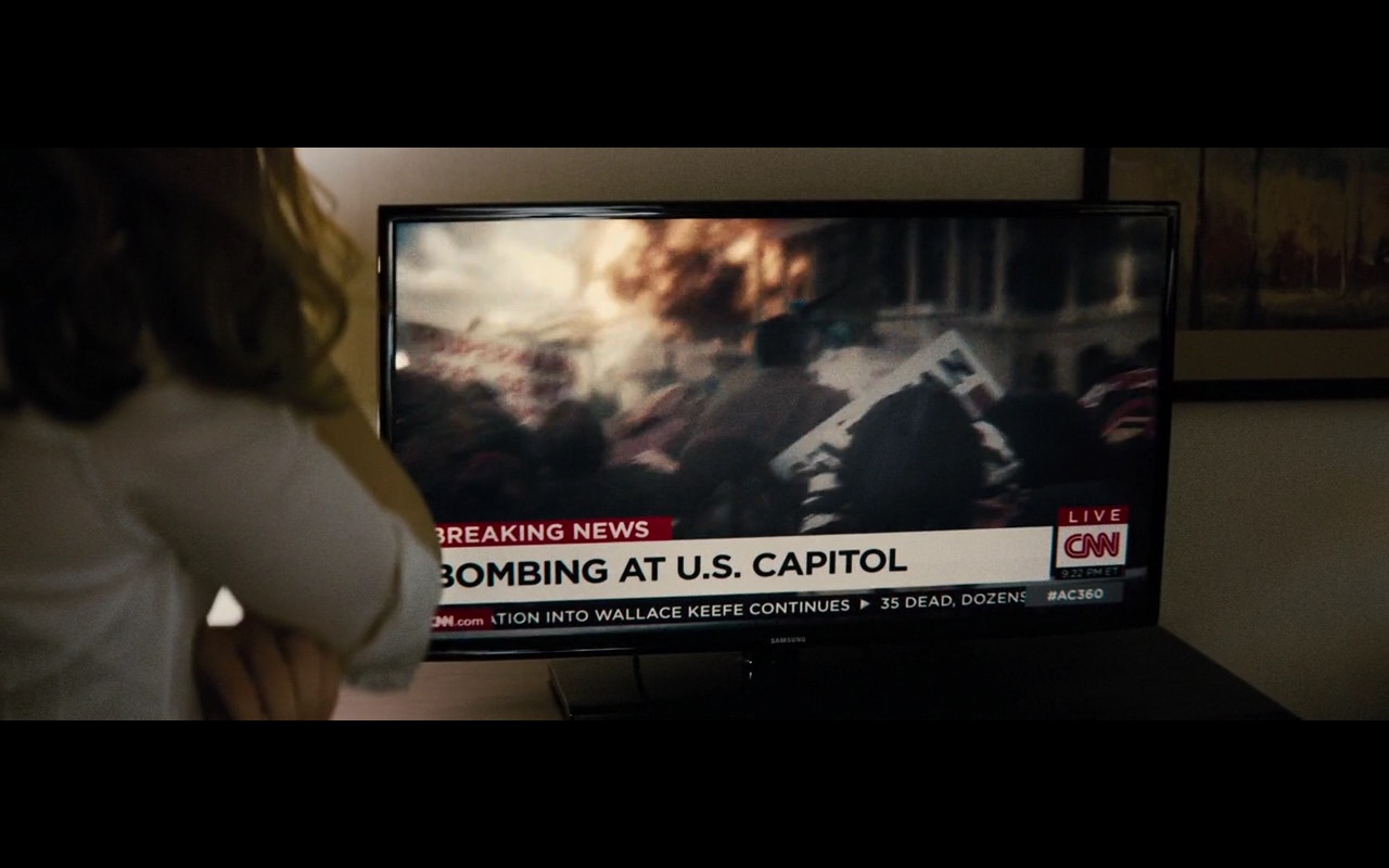 CNN And Samsung TV - Batman v Superman: Dawn of Justice (2016) Movie Product Placement