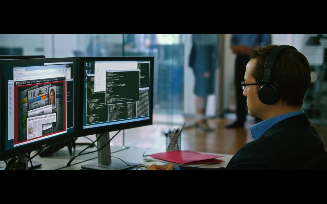 Dell Monitors - Snowden (2016) - Movie Product Placement