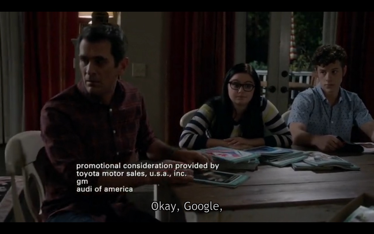 Google And Youtube - Modern Family TV Show Product Placement