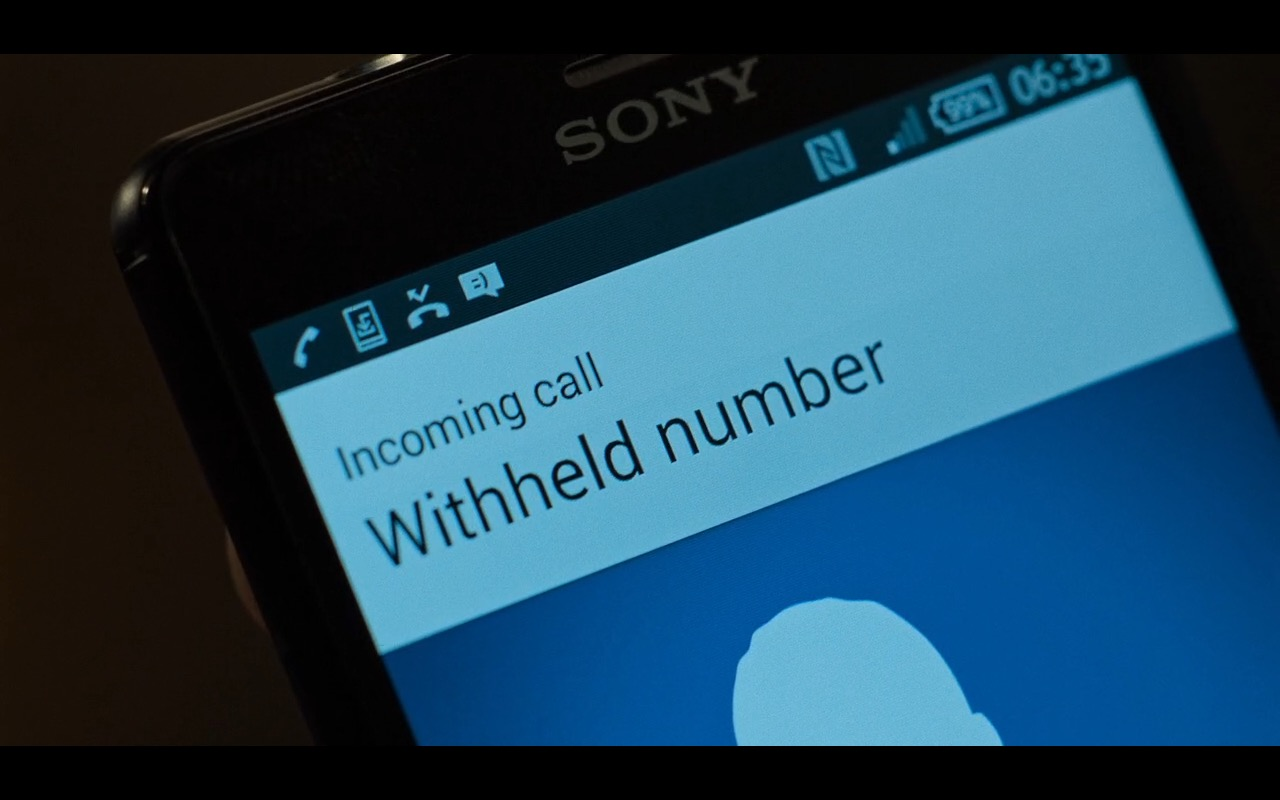 Sony Xperia Smartphones – Inferno (2016) Movie Product Placement