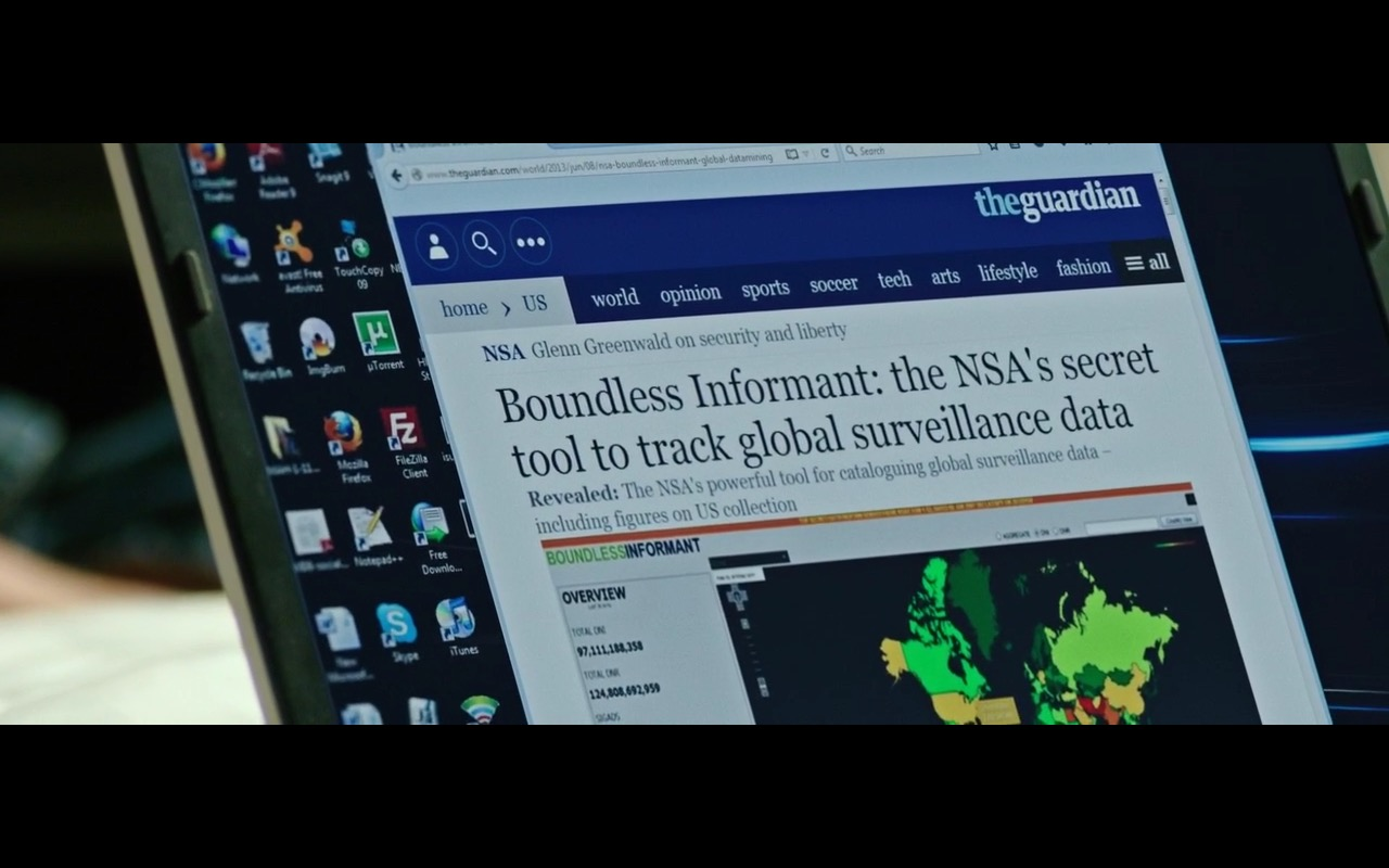 The Guardian - Snowden (2016) - Movie Product Placement
