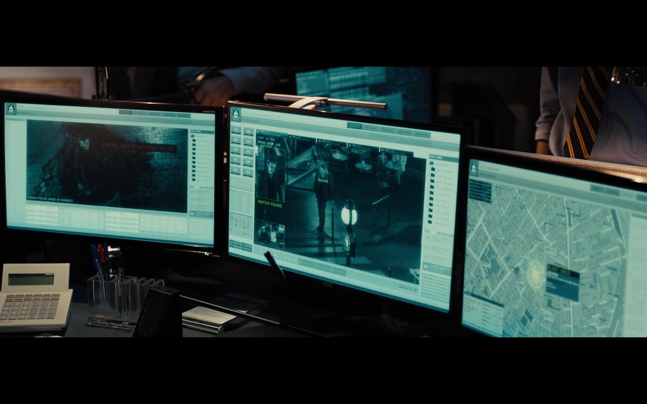 AOC Monitors - Bastille Day (2016) Movie Product Placement