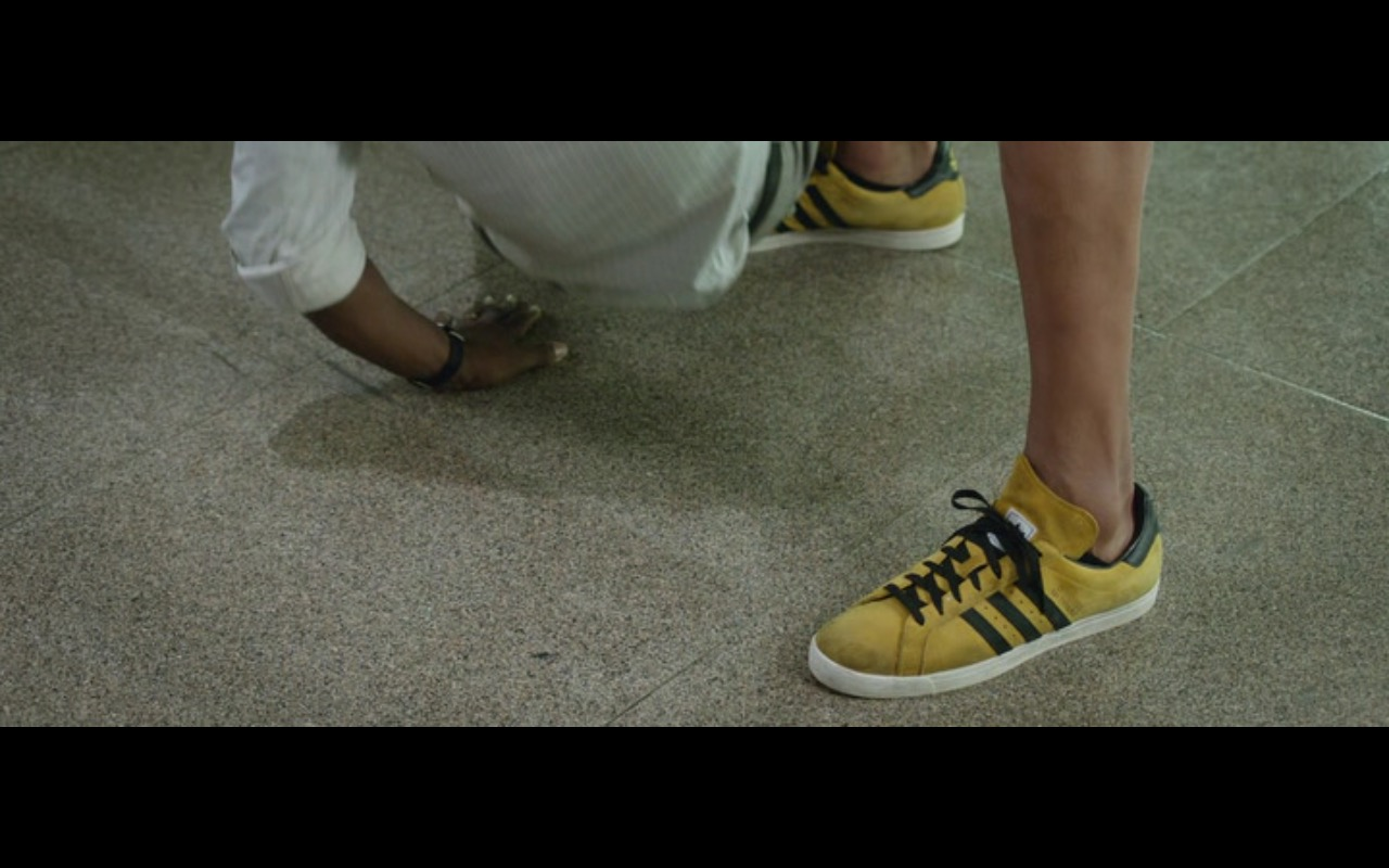 Adidas Men's Yellow Sneakers – Central Intelligence (2016) Movie Product Placement