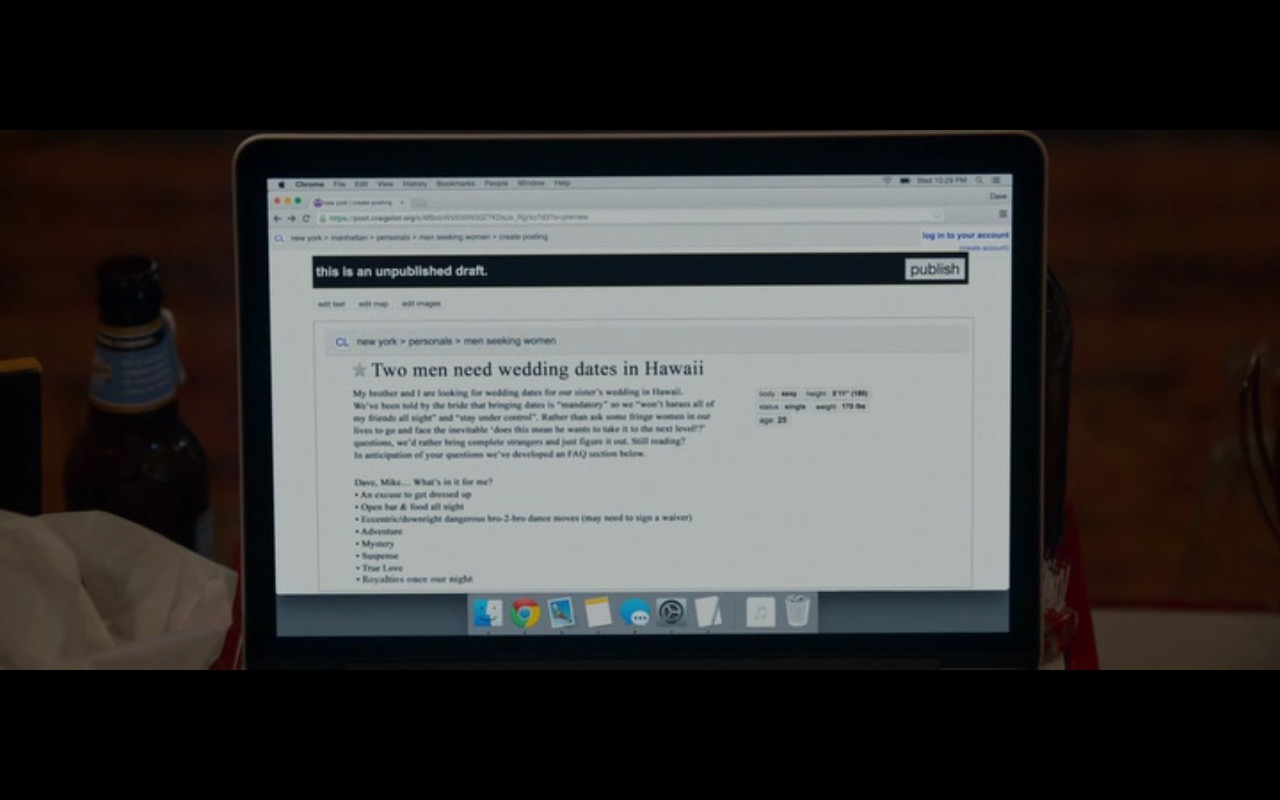 Apple MacBook Pro – Mike and Dave Need Wedding Dates (2016) Movie Product Placement