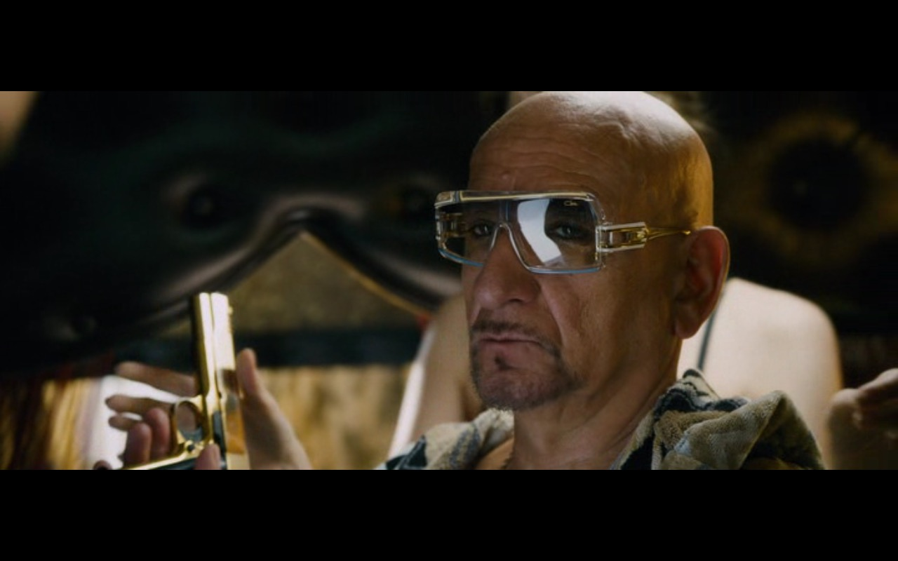 Cazal Sunglasses (Model 858) Worn by Ben Kingsley in Collide (2016) Movie Product Placement