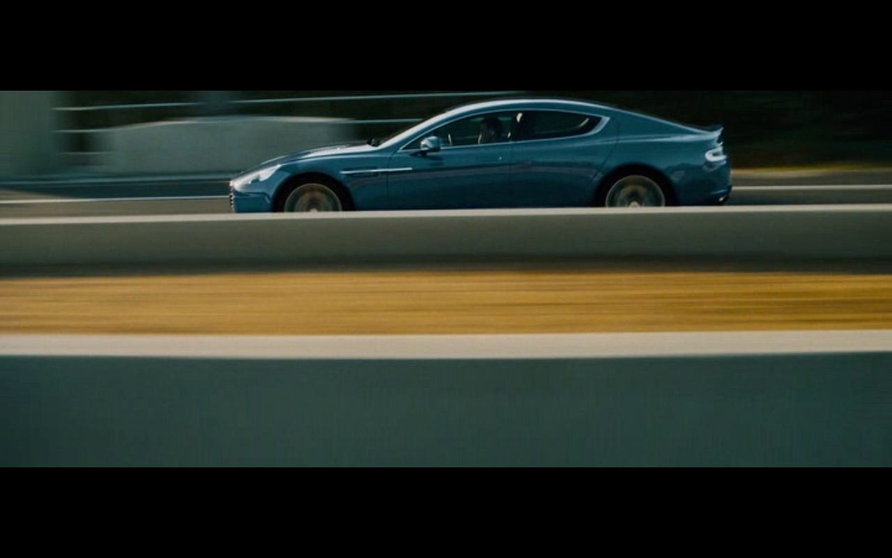 Blue Aston Martin Rapide S – Collide (2016) Movie Product Placement