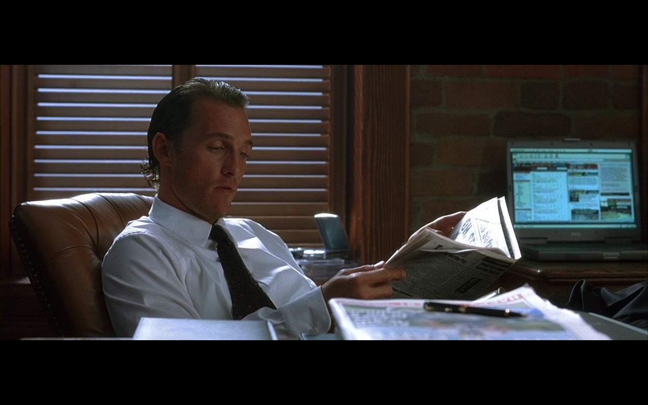 Dell Notebook – Two for the Money (2005) Movie Product Placement