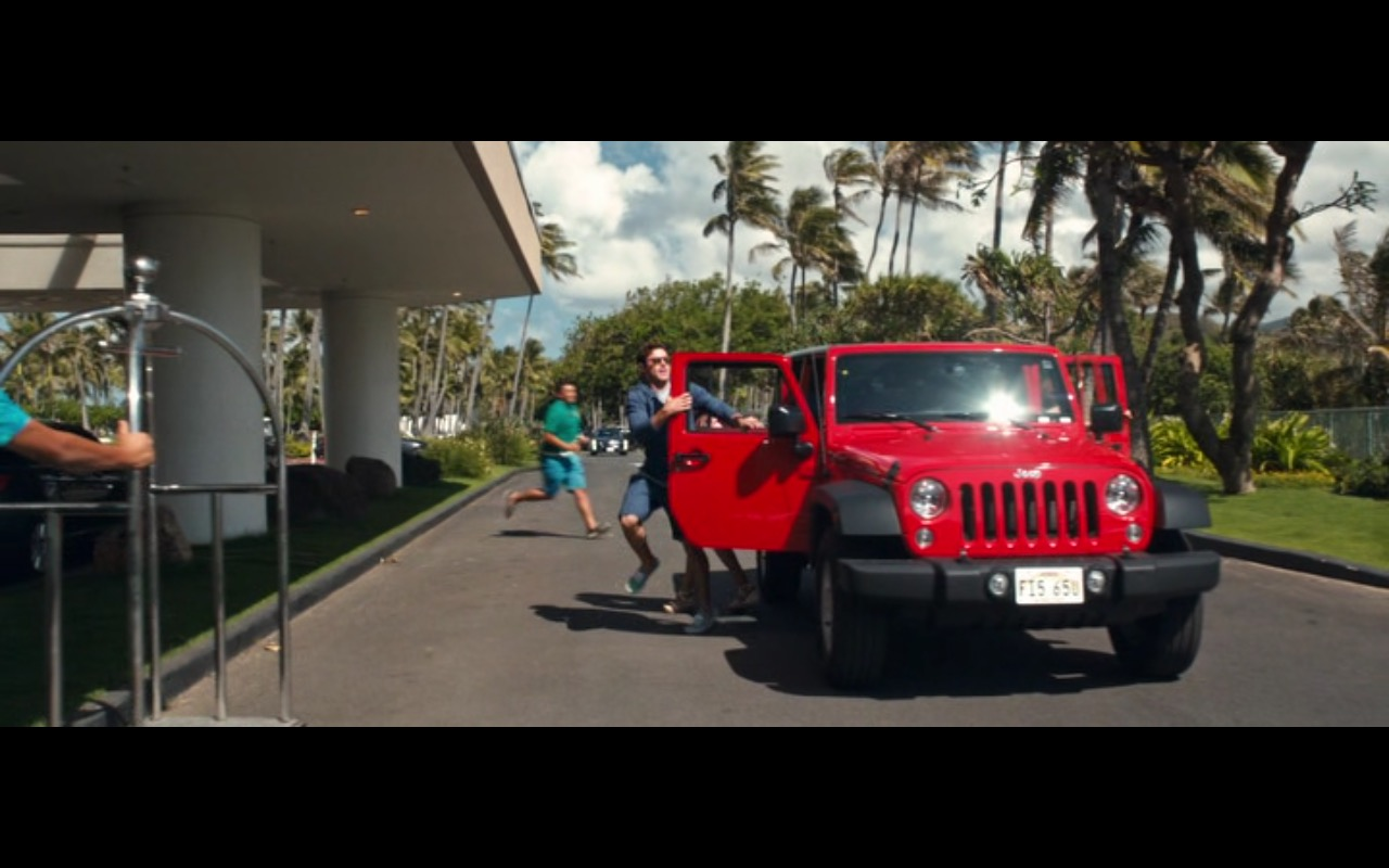 Jeep Wrangler Unlimited (Red) – Mike and Dave Need Wedding Dates (2016) Movie Product Placement