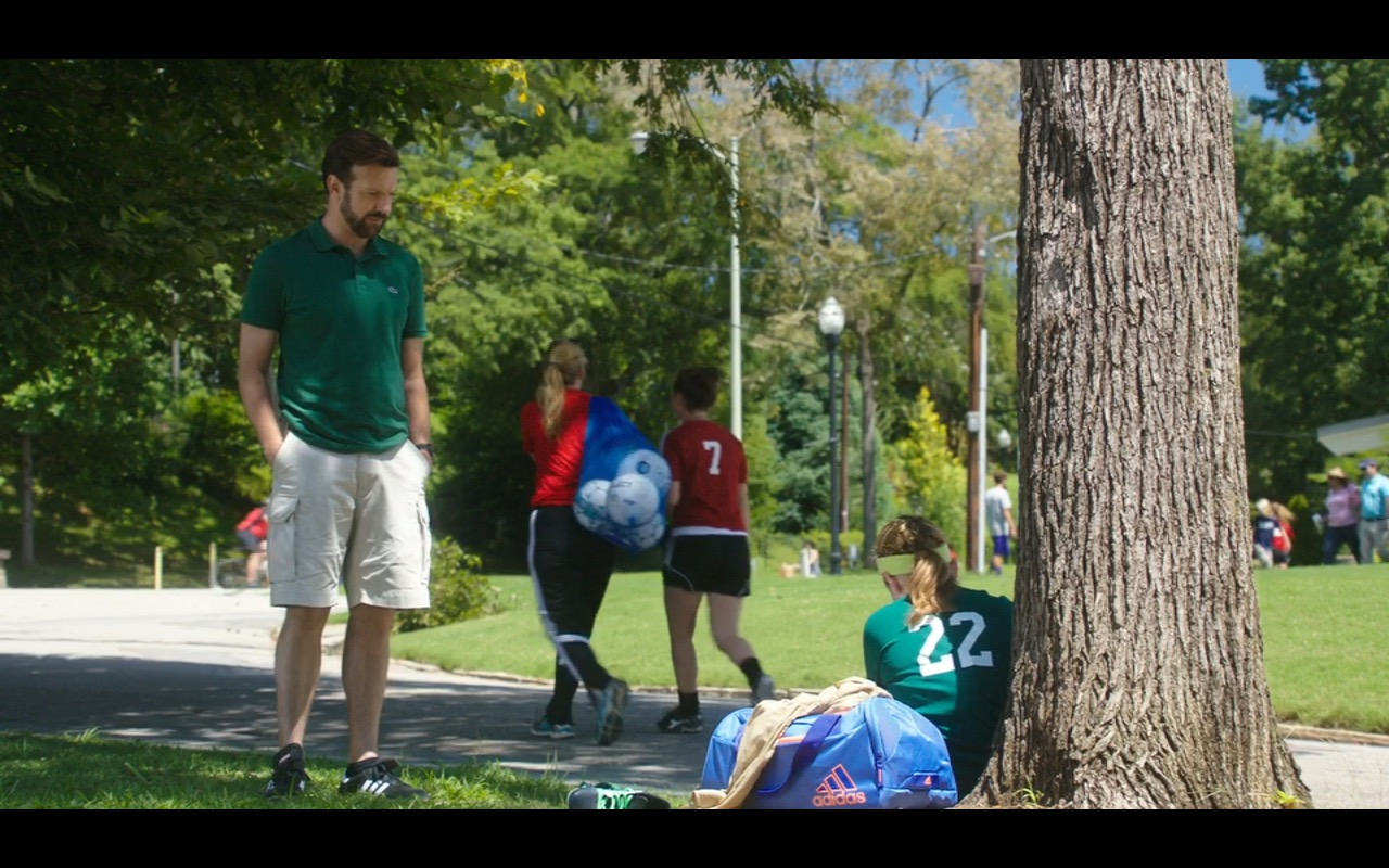 Lacoste Green Polo Shirt, Adidas Bag and Sneakers – Mother's Day (2016) - Movie Product Placement
