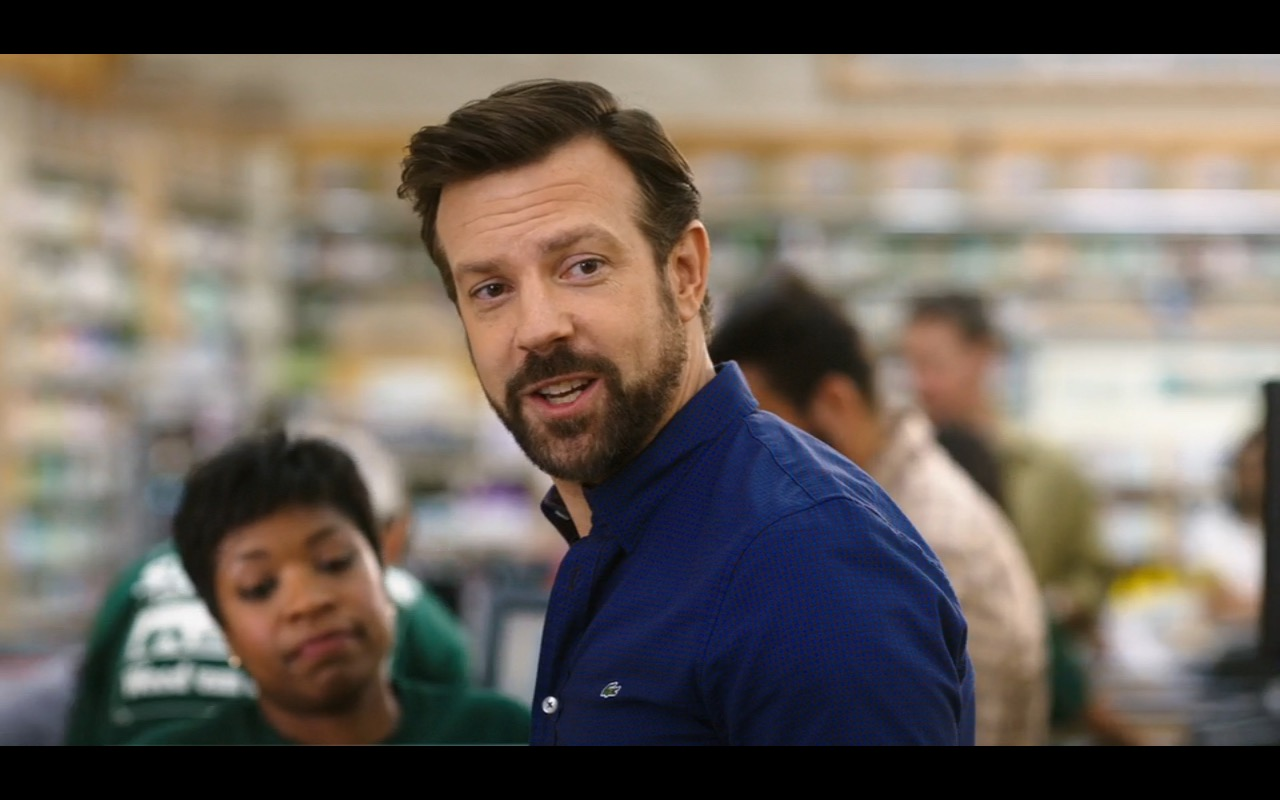 Lacoste Men's Blue Long Sleeve Shirt – Mother's Day (2016) - Movie Product Placement