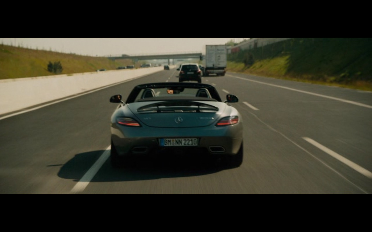Mercedes-Benz SLS AMG Roadster – Collide (2016) Movie Product Placement