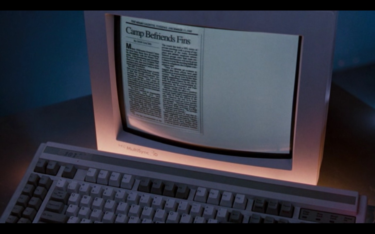 Nec Monitor - Ace Ventura: Pet Detective (1994) - Movie Product Placement