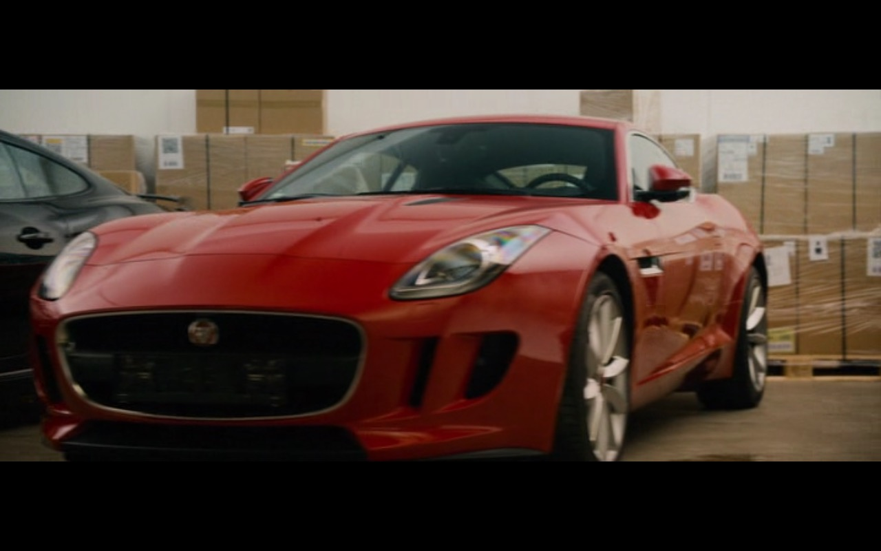 Red Jaguar F-Type Coupé – Collide (2016) Movie Product Placement