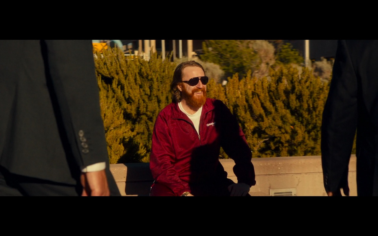 Reebok Men's Red Sportswear – War on Everyone (2016) Movie Product Placement