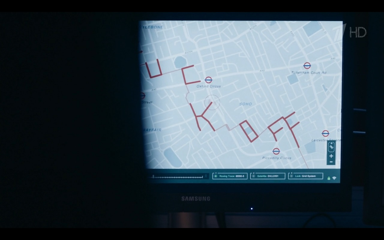 Samsung Monitor - Sherlock TV Show Product Placement