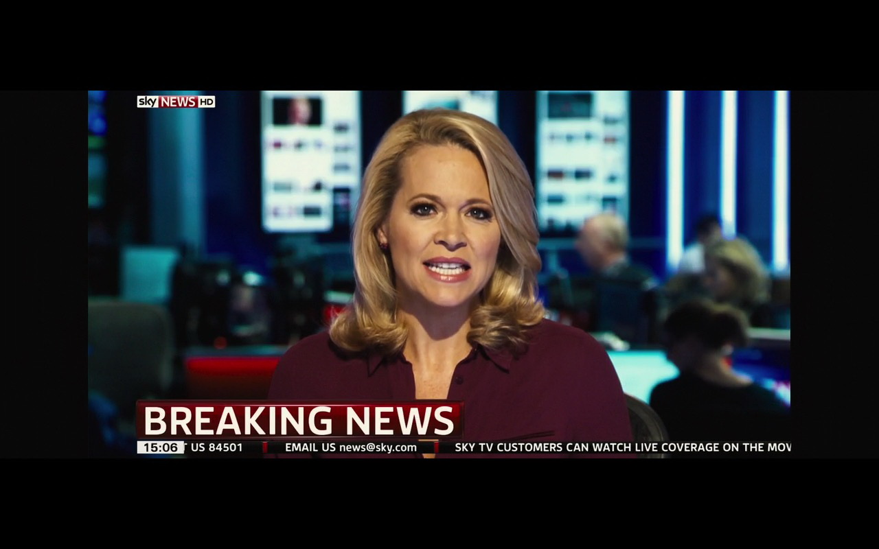Sky News HD Television Channel – London Has Fallen (2016) - Movie Product Placement