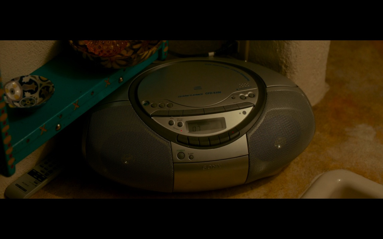Sony CD Radio Cassette Recorder Boombox Speaker System - War on Everyone (2016) Movie Product Placement