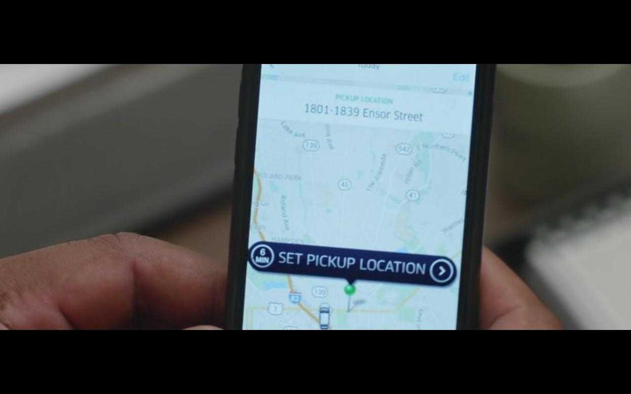 UBER – Central Intelligence (2016) - Movie Product Placement