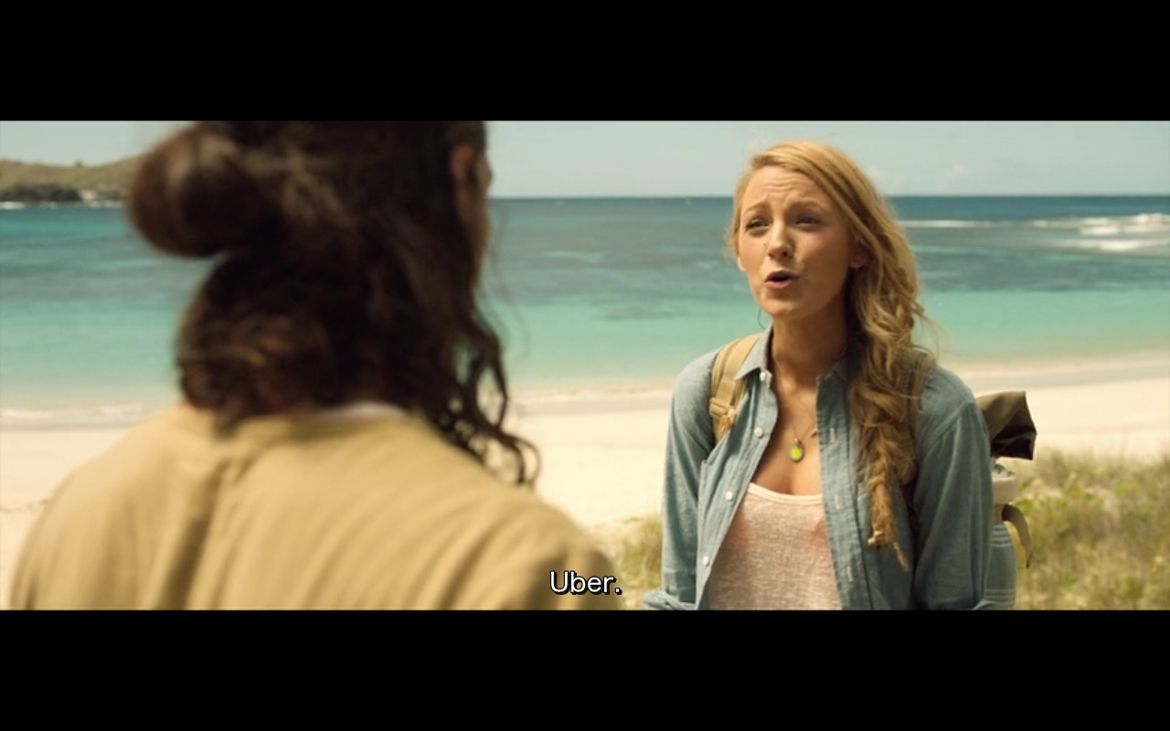 UBER – The Shallows (2016) Movie Product Placement
