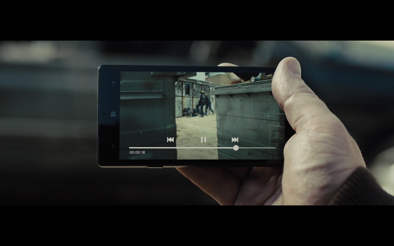 Microsoft Windows Smartphone - Bastille Day (2016) Movie Product Placement