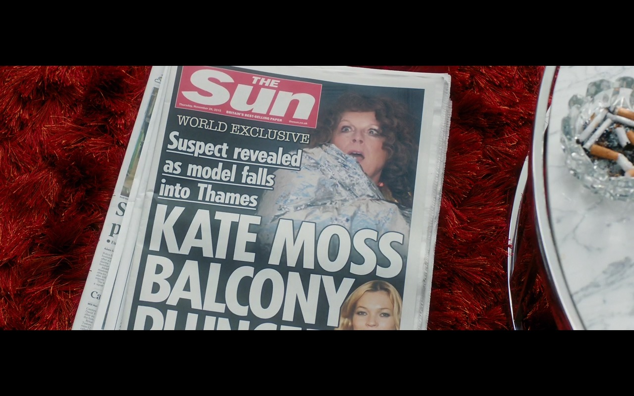 The Sun Newspaper – Absolutely Fabulous: The Movie (2016) - Movie Product Placement