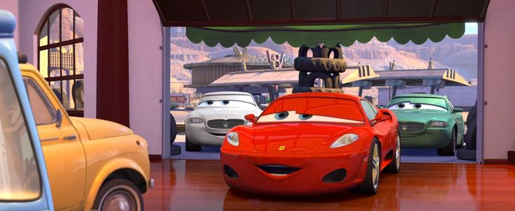 Ferrari F430  and Maserati Quattroporte V cars in CARS (2006) Cartoon and Animation Movie  Product Placement Review