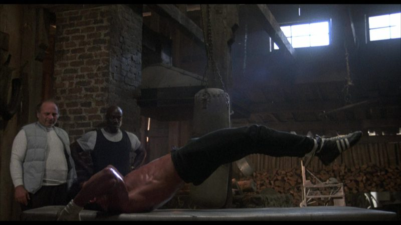 Adidas Boxing Black Shoes Worn by Sylvester Stallone (Rocky Balboa) in ROCKY IV (1985) Movie Product Placement