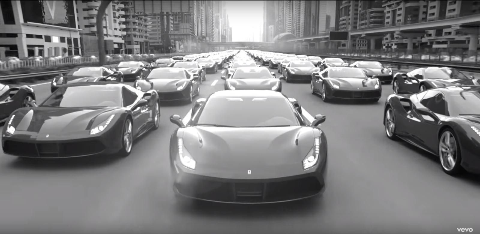 Ferrari 488 GTB - Imagine Dragons - Thunder - Official Music Video Product Placement