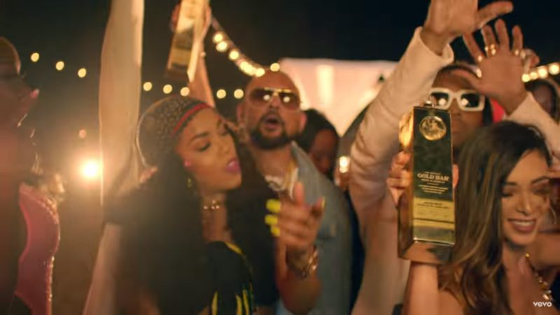 GOLD BAR Whiskey - Sean Paul - Body ft. Migos Official Music Video Product Placement