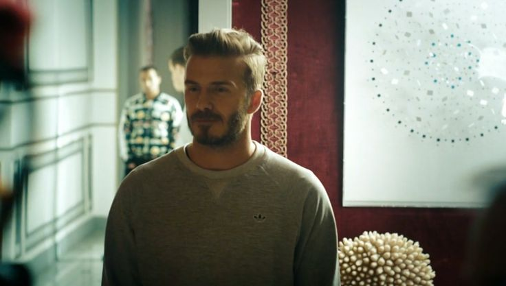 Adidas Grey PBS Crew Neck Sweatshirt - David Beckham: Into the Unknown (2014) Movie Product Placement