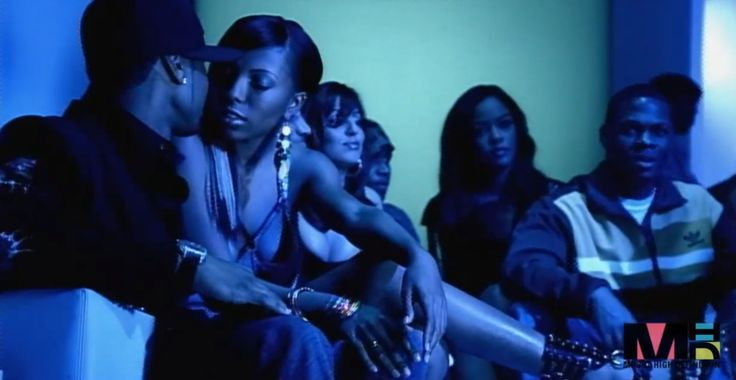 Adidas jacket in YEAH! by Usher (2004) Official Music Video Product Placement
