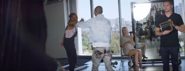 Adidas jeans - Pharrell Williams - Come Get It Bae Official Music Video Product Placement