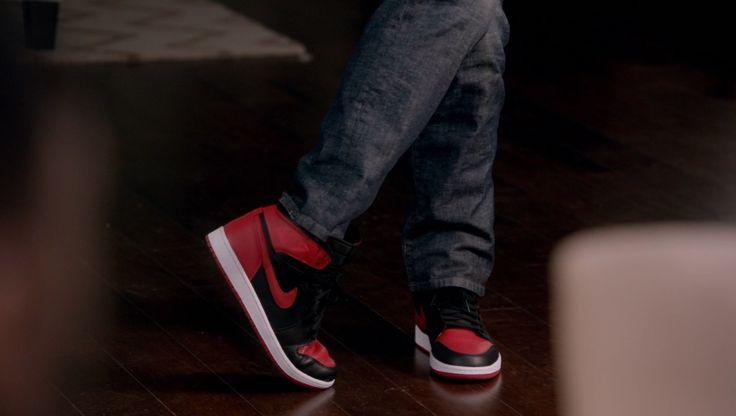 Air Jordan I shoes in BLACK-ISH: THE NOD (2014) TV Show Product Placement