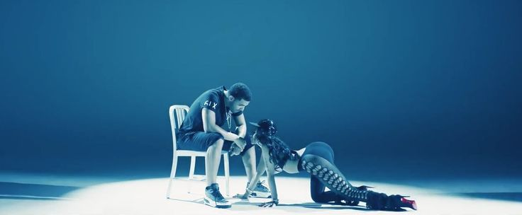 Air Jordan shoes worn by Drake and Louboutin boots worn by Nicki Minaj in ANACONDA (2014) - Official Music Video Product Placement