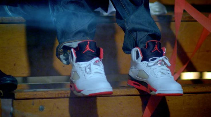 """Air Jordan V """"Fire Red"""" shoes worn by Juicy J in 23 by Mike WiLL Made It (2013) Official Music Video Product Placement"""