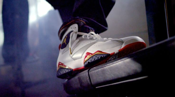 Air Jordan VII Olympics shoes in 23 by Mike WiLL Made It (2013) - Official Music Video Product Placement