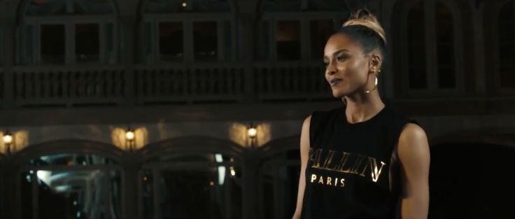 Alex & Chloe Ballin in Paris t-shirt worn by Ciara in BODY PARTY (2013) - Official Music Video Product Placement