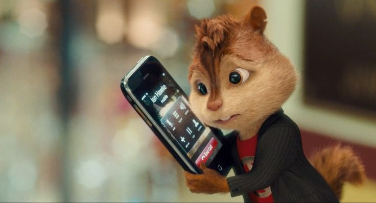 Apple and AT&T iPhone mobile phone in Alvin and the Chipmunks: The Squeakquel (2009) Animation Movie Movie Product Placement