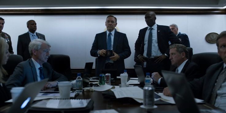 Apple and Samsung laptops, Fiji water, Sprite and Diet Coke cans in HOUSE OF CARDS: CHAPTER 34 (2015) TV Show Product Placement