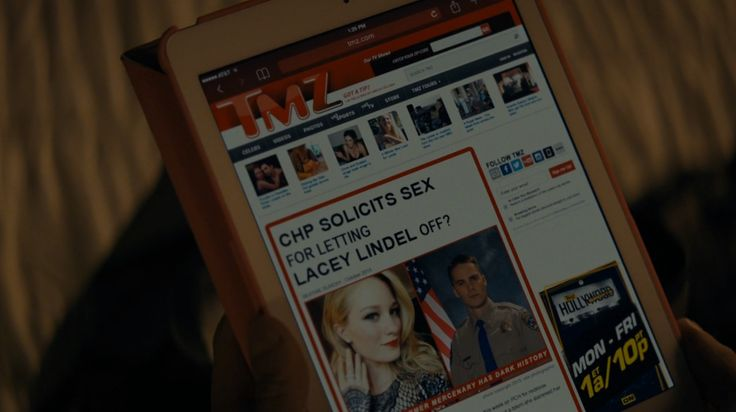 Apple iPad tablet and TMZ website - TRUE DETECTIVE: NIGHT FINDS YOU (2015) TV Show Product Placement